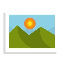 Beautiful landscape in a picture isolated icon vector image