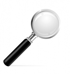 Beautiful of a magnifier vector