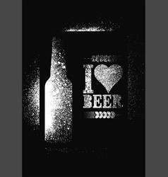 Beer typography stencil spray grunge style poster vector