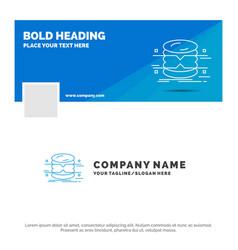 blue business logo template for database data vector image