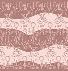 Boho style textile boho-chic bohemianism vector