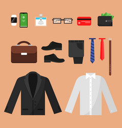 business clothes fashion for office managers male vector image