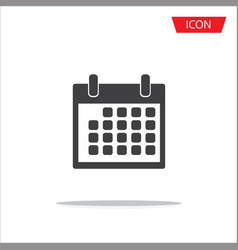 calendar icon isolated on white background vector image