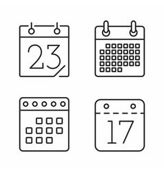 Calendar Line Icons vector