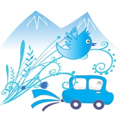 Car ecological and pure air background vector image