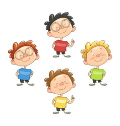 Cartoon smiling boy vector image vector image