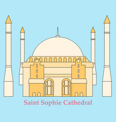 Cartoon turkey symbols and objects set saint vector