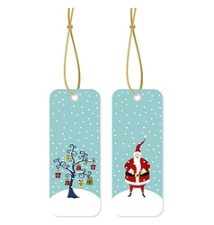 Christmas series Santa Claus and Christmas tree vector image vector image