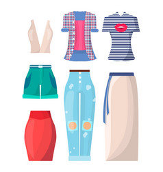 Clothing summer mode posters vector