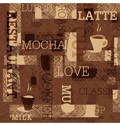 coffee seamless background vector image