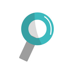 color magnifying glass icon search vector image