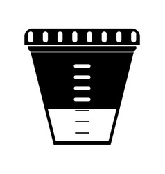 container sample laboratory icon pictogram vector image