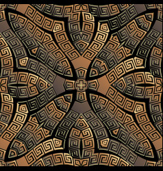 Copper textured greek seamless pattern vector