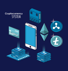 Cryptocurrency system and marketplace vector