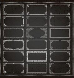 Decorative frames and borders rectangle 2x1 vector