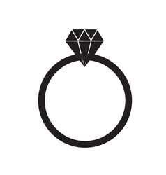 diamond ring on white background diamond ring vector image