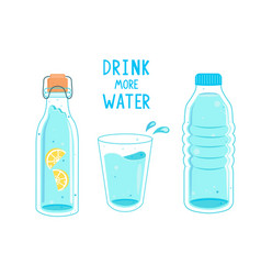 drink more water calling banner vector image