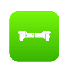Electrical modern gyroboard icon digital green vector