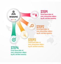 Elements for infographic design concept with 4 vector