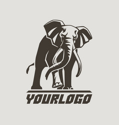 elephants logo sign pictogram-05 vector image