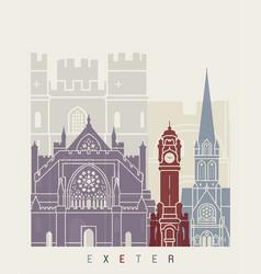 Exeter skyline poster vector