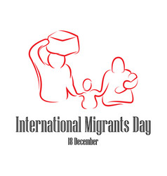Family go leave country international migrants vector