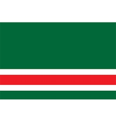 Flag of chechen republic of ichkeria vector image