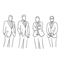 four businessman standing with different gesture vector image