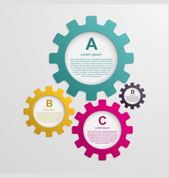 Gears infographic design template vector