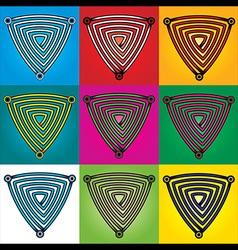 Geometric labyrinth shape design vector