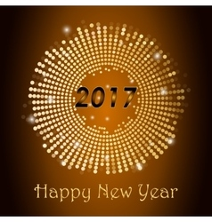 Gold glitter happy new year 2017 background vector