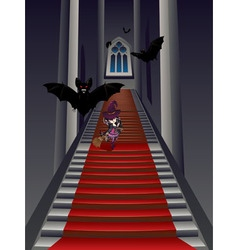 Gothic Stairs and Witch vector