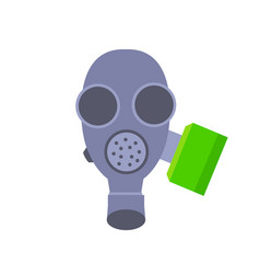 grey gas mask isolated vector image