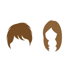 hair wig icon design set bundle template isolated vector image