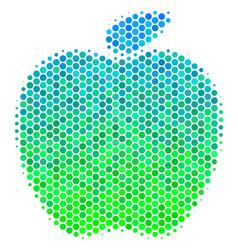halftone blue-green apple icon vector image