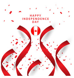 Happy canada independent day template design vector