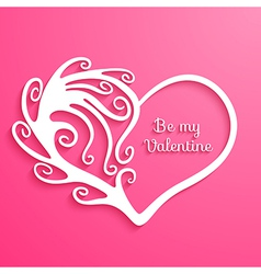 Heart with lettering Happy Valentines Day vector image