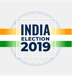 indian election concept poster design vector image