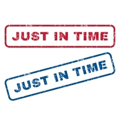 Just In Time Rubber Stamps vector
