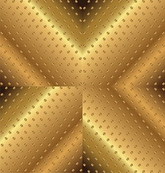 Letter x background metal copper vector