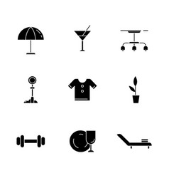 Lifestyle black glyph icons set on white space vector