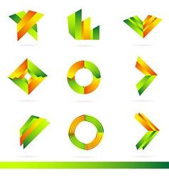 Logo design elements set vector
