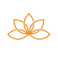 Lotus artistic line symbol design vector