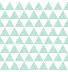 mint green triangles and leaves texture vector image