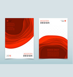 modern design of business brochure vector image