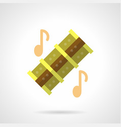 musical reed pipes flat color icon vector image