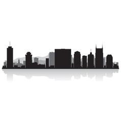 Nashville USA city skyline silhouette vector