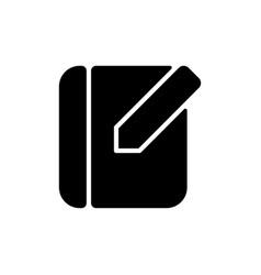 Notebook app black glyph icon vector