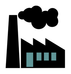 old factory silhouette on white background vector image