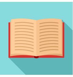 open book icon flat style vector image